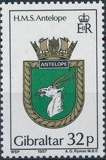 Gibraltar 1987 Royal Navy Crests 6th Group c