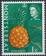 Montserrat 1965 Fruit & Vegetables and Portrait of Queen Elizabeth II a
