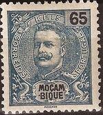 Mozambique 1903 D. Carlos I - New Values and Colors d