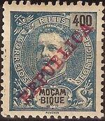 Mozambique 1911 D. Carlos I Overprinted m