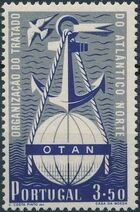 Portugal 1952 3rd Anniversary of North Atlantic Treaty Signing b