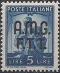 Trieste-Zone A 1947 Democracy (Italy Postage Stamps of 1945 Overprinted) g