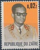 Zaire 1973 President Joseph Desiré Mobutu b