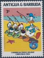 Antigua and Barbuda 1984 Disney - Christmas - 50th Anniversary of the Birth of Donald Duck c
