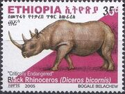 Ethiopia 2005 Black Rhinoceros g