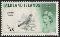 Falkland Islands 1960 Queen Elizabeth II and Birds a