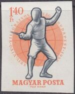 Hungary 1959 24th World Fencing Championships ag