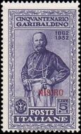 Italy (Aegean Islands)-Nisiro 1932 50th Anniversary of the Death of Giuseppe Garibaldi j