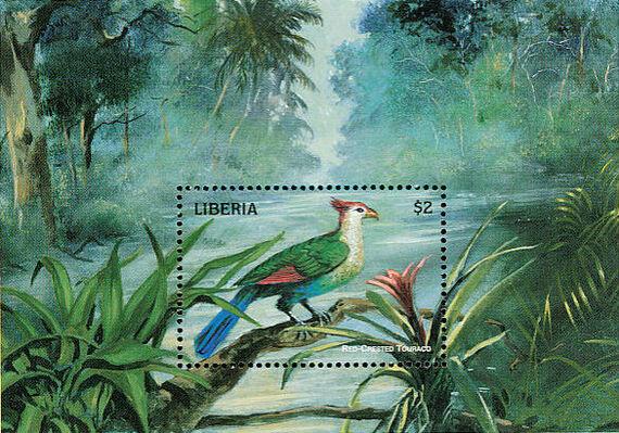 Liberia 1998 Birds of the World SSa