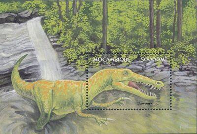 Mozambique 2002 Dinosaurs SSb