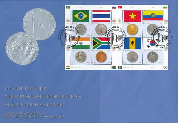United Nations-New York 2006 Flags and Coins of the Member States FDCc