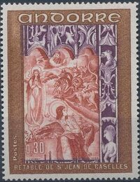 Andorra-French 1969 Frescoes a