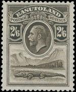 Basutoland 1933 George V, Crocodile and River Scene h