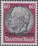 German Occupation-Lothringen 1940 Stamps of Germany (1933-1936) Overprinted in Black n