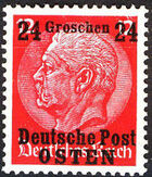 Poland-General Government 1939 Stamps from German Empire 1905 Surcharged and Overprinted f