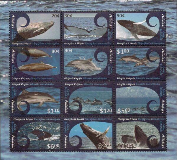 Aitutaki 2012 Whales & Dolphins MS