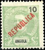 Angola 1914 D. Carlos I Overprinted a