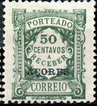 Azores 1922 Postage Due Stamps of Portugal Overprinted (1st Group) d