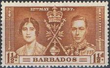 Barbados 1937 George VI Coronation b