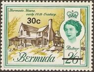 Bermuda 1970 Definitive Issue of 1962 Surcharged m