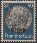 German Occupation-Alsace 1940 Stamps of Germany (1933-1936) Overprinted in Black o