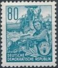 Germany DDR 1953 Workers For The Five-year Plan q