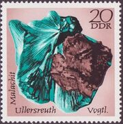 Germany DDR 1972 Minerals Found in East Germany c