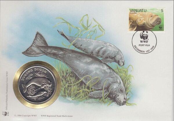 Vanuatu 1988 WWF Dugong i