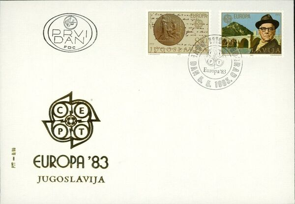 Yugoslavia 1983 Europa FDCa