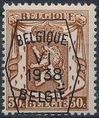 Belgium 1938 Coat of Arms - Precancel (6th Group) d