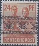 British and American Zone 1948 Overprinted with Posthorn Ribbon i