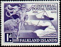 Falkland Islands 1949 75th Anniversary of Universal Postal Union UPU a