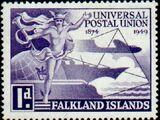 Falkland Islands 1949 75th Anniversary of Universal Postal Union UPU