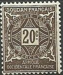 French Sudan 1931 Postage Due d