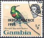 Gambia 1965 Birds Overprinted a