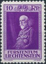 Liechtenstein 1933 80th Birthday of Prince Francis I a