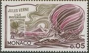Monaco 1978 Birth Sesquicentennial of Jules Verne a