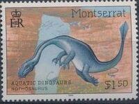 Montserrat 1994 Aquatic Dinosaurs c