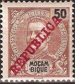 Mozambique 1911 D. Carlos I Overprinted g