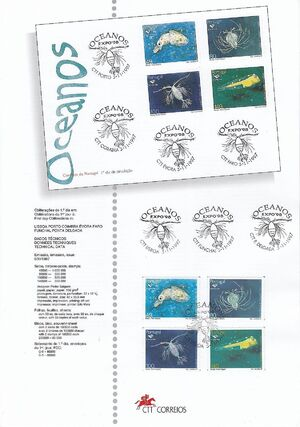 Portugal 1997 Expo'98 - Oceans The Plankton (1st Group) e