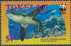 Tokelau 2002 WWF Pelagic Thresher Shark b