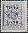 Belgium 1955 Heraldic Lion with Precancellations a