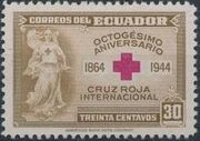 Ecuador 1944 80th Anniversary of the International Red Cross a