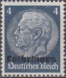 German Occupation-Lothringen 1940 Stamps of Germany (1933-1936) Overprinted in Black b