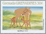 Grenada Grenadines 1988 The Disney Animal Stories in Postage Stamps 1d