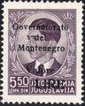 Montenegro 1941 Yugoslavia Stamps Surcharged under Italian Occupation e.jpg