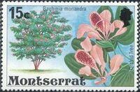 Montserrat 1976 Flowering Trees f