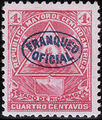 Nicaragua 1898 Official Stamps Overprinted in Blue c.jpg