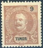 Timor 1903 D. Carlos I - New Values and Colors d