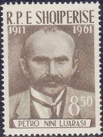 Albania 1962 50th Anniversary of the Death of Petro Nini Luarasi b